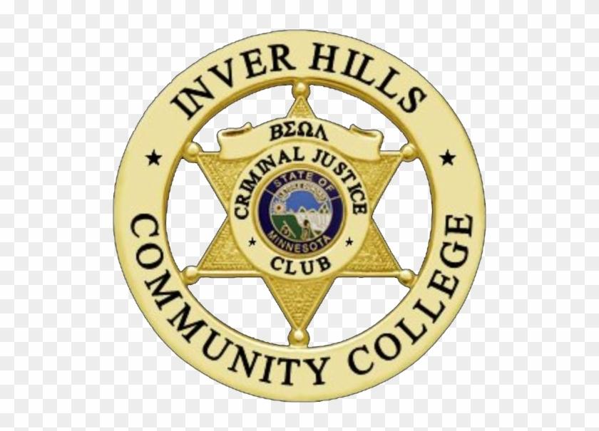 "Criminal Justice Club Badge - Smith & Warren Custom Badge, 1-3/4"" X 2-7/16"", #1036342"