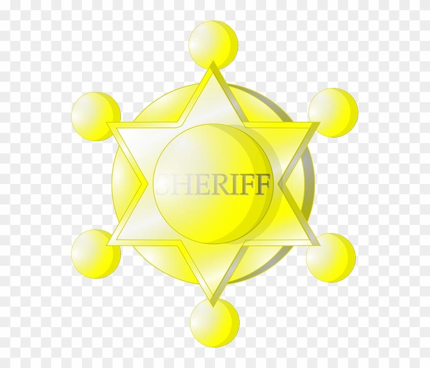 Star Yellow Police Signs Symbols Sheriff Badge Estrela