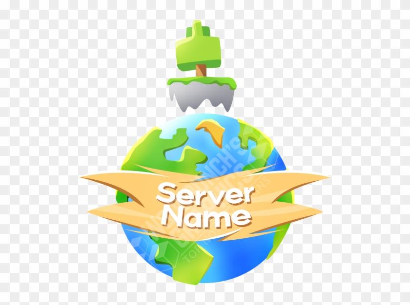 skyblock planet server logo template banner server minecraft