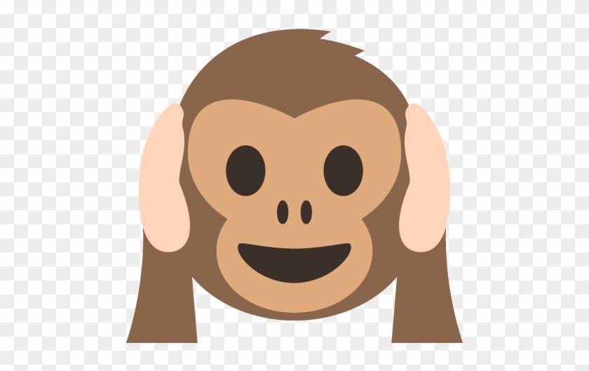 Hear No Evil Monkey Emoji Monkey Emoji Svg Free Transparent PNG Classy Monkey Covering Eyes Emoji Pillow