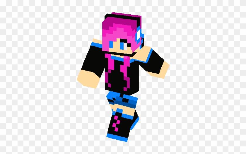 Cute Zodiac Girl Skin Minecraft Skin Ender Girl Free Transparent