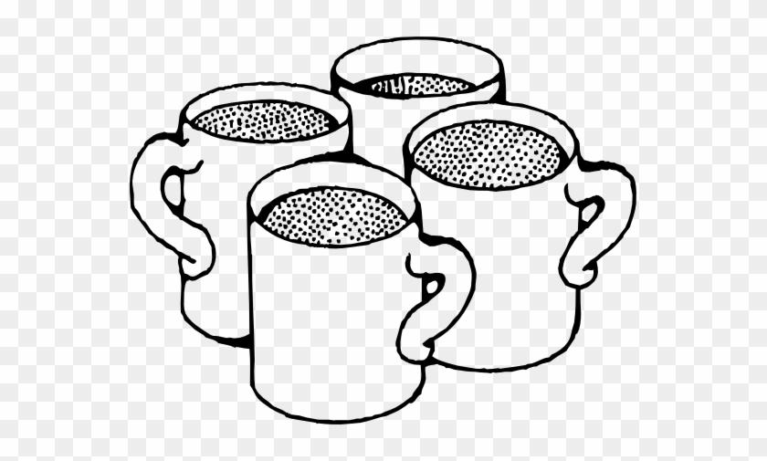 Coffee Mugs Black White Line Art 555px - Coffee Mug Clip Art #1039853
