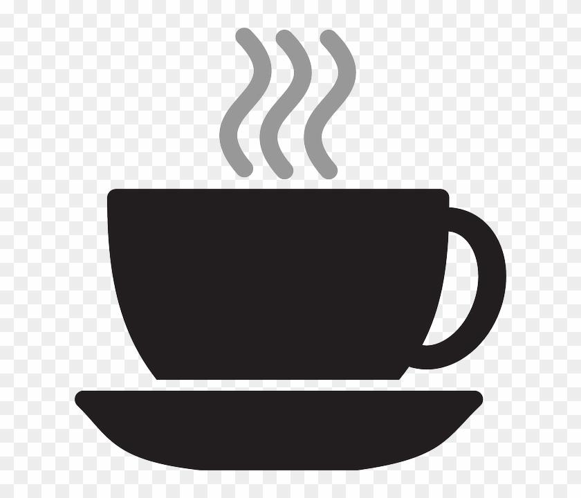 Tea Coffee, Cup, Silhouette, Steam, Tea - Coffee Cup Clip Art Png #1039856