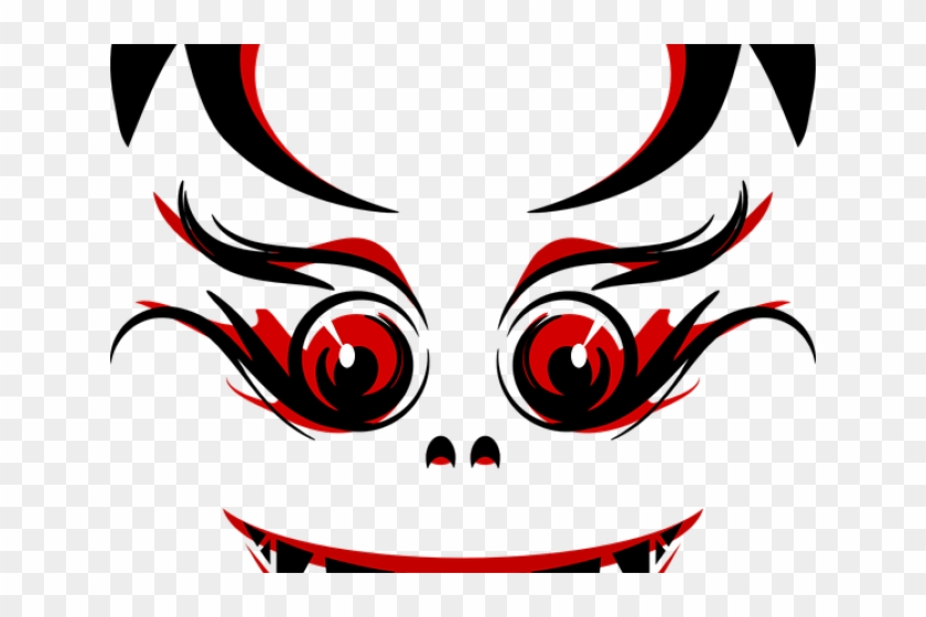 Creepy Clipart Bloodshot Eye - Scary Red Face Shower Curtain #1040093