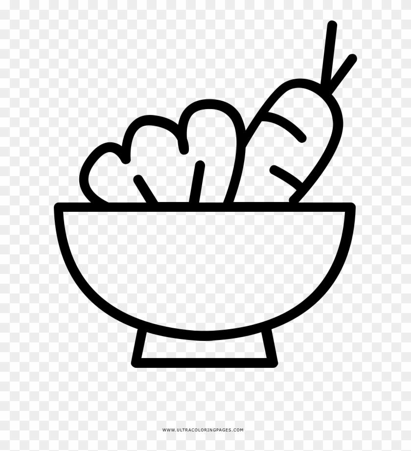 Dibujo De Vegetales Para Colorear - Japanese Food Icon Png - Free ...