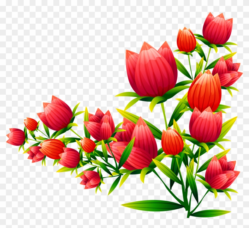 floral design tulip flower euclidean vector vector corners flowers png free transparent png clipart images download floral design tulip flower euclidean