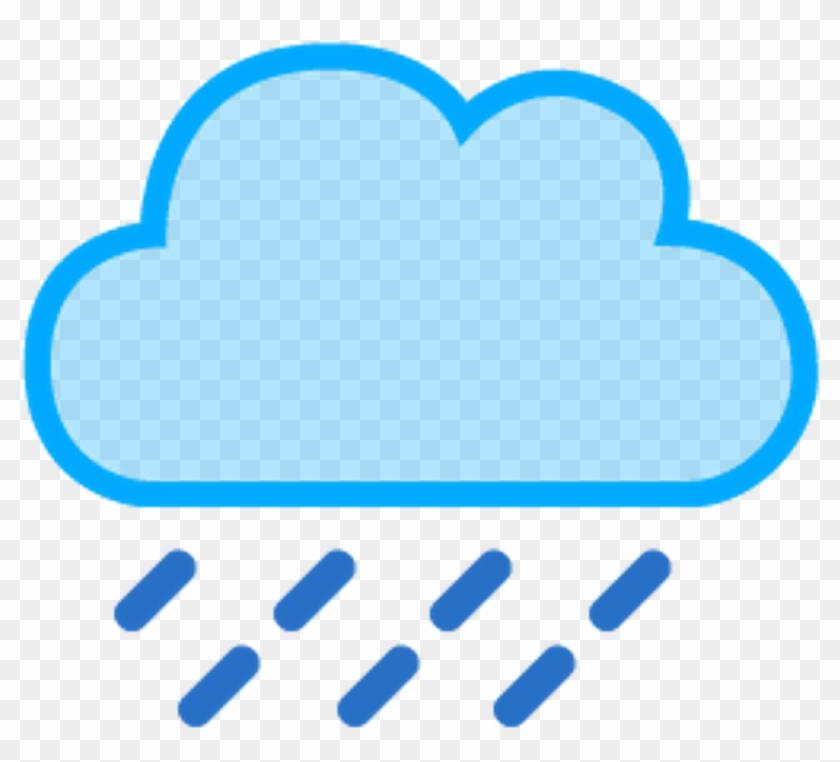 Nube Lluvia Cloud Rain Raincloud - Rain Cloud Weather Symbol #1041691