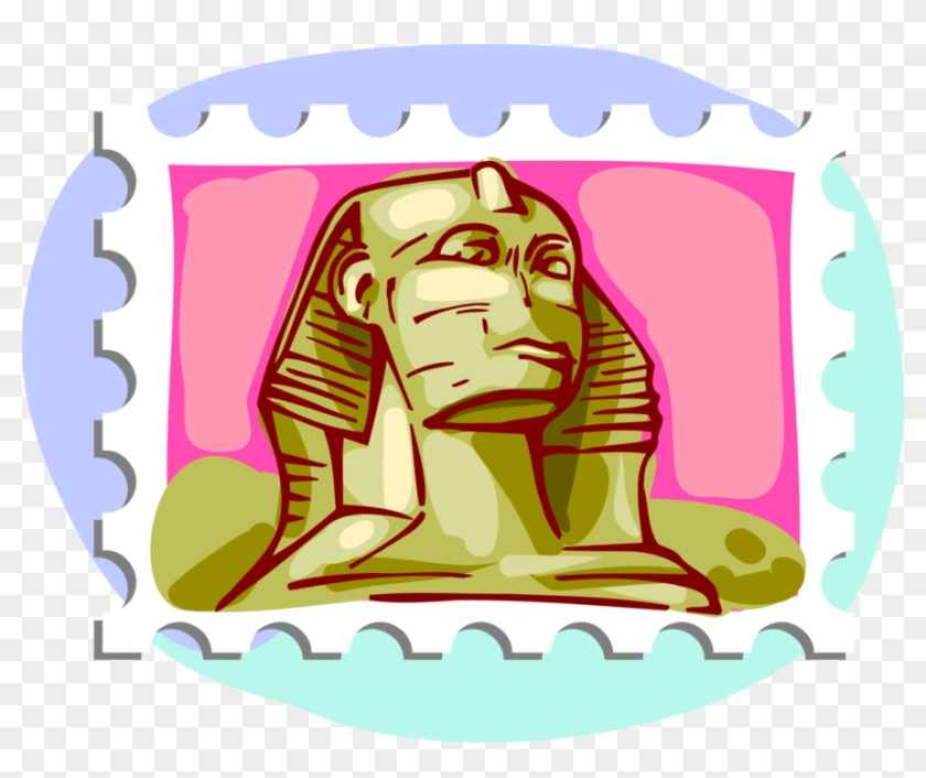 Vector Illustration Of Postage Stamp Of Egyptian Great - Vector Illustration Of Postage Stamp Of Egyptian Great #1041800