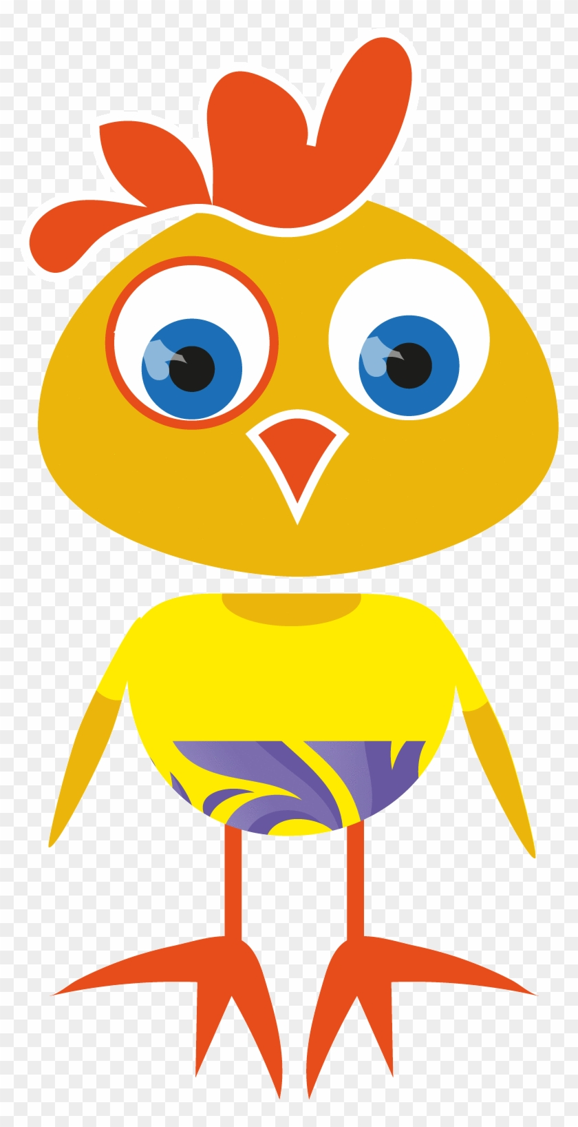 Check Out This New Super Cute Cartoon Chick Vector - Vector Graphics #1043192