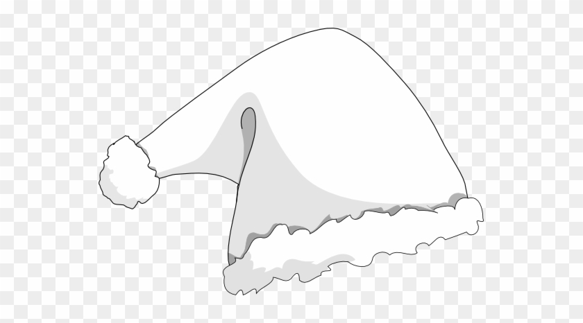 Elf Hat Clipart - Black And White Christmas Hat #1043254