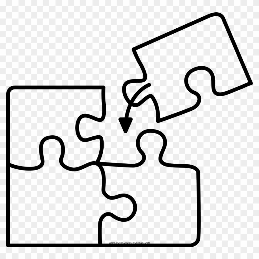 Coloring - Puzzle - Puzzle Ausmalbild - Free Transparent PNG Clipart ...