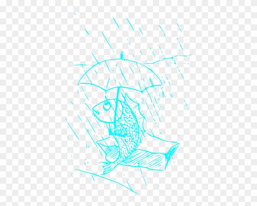 Blue Fish Svg Clip Arts 414 X 593 Px - Umbrella Clip Art #1043727