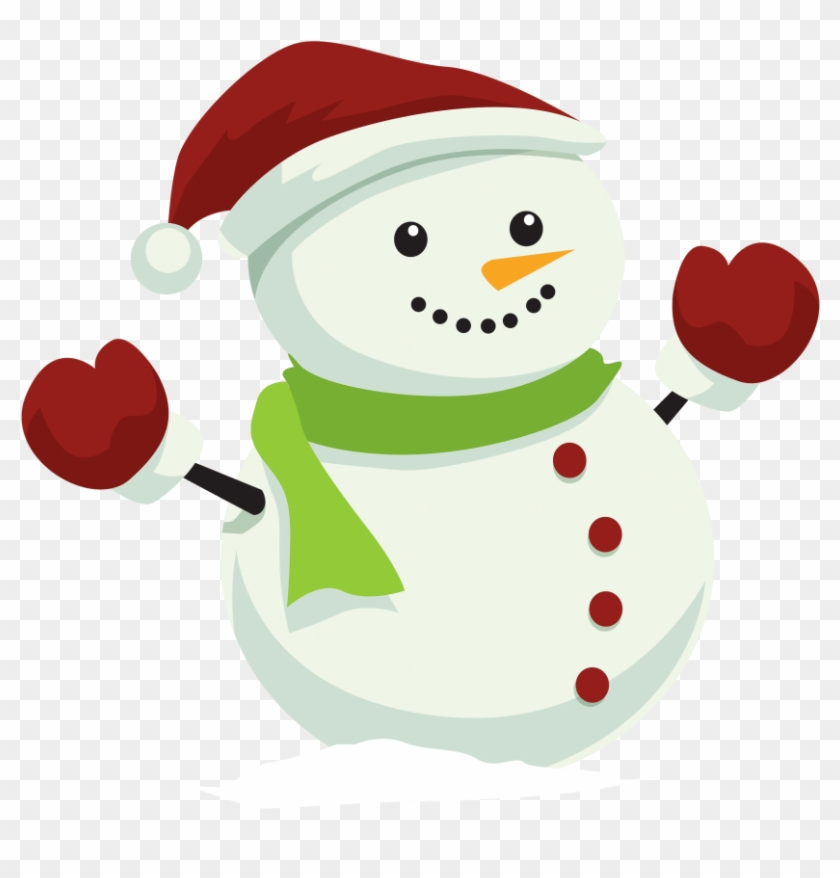 Download Snowman With Christmas Hat Png Clipart - Snow Man Png #1043732