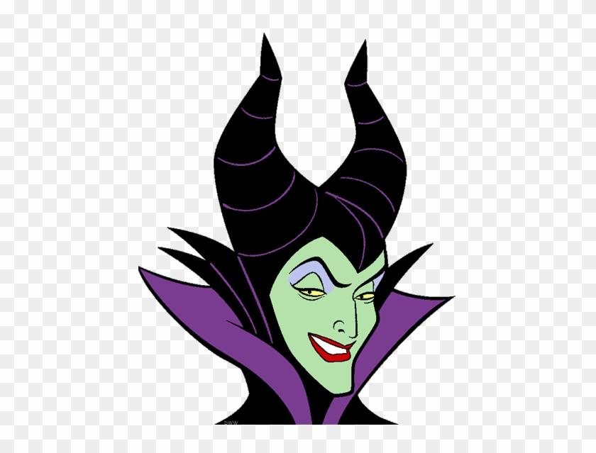 Head Clipart Maleficent - Maleficent Sleeping Beauty Face #1044154