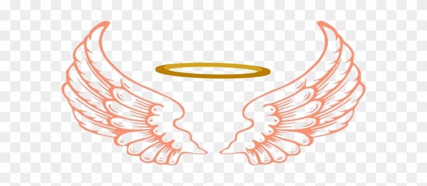 Best Halo Clip Art - Angel Wings And Halo Png #1044399