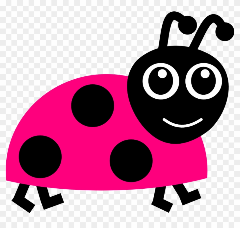 Collection Of Cute Ladybug Clipart - Pink Lady Bug #1044543
