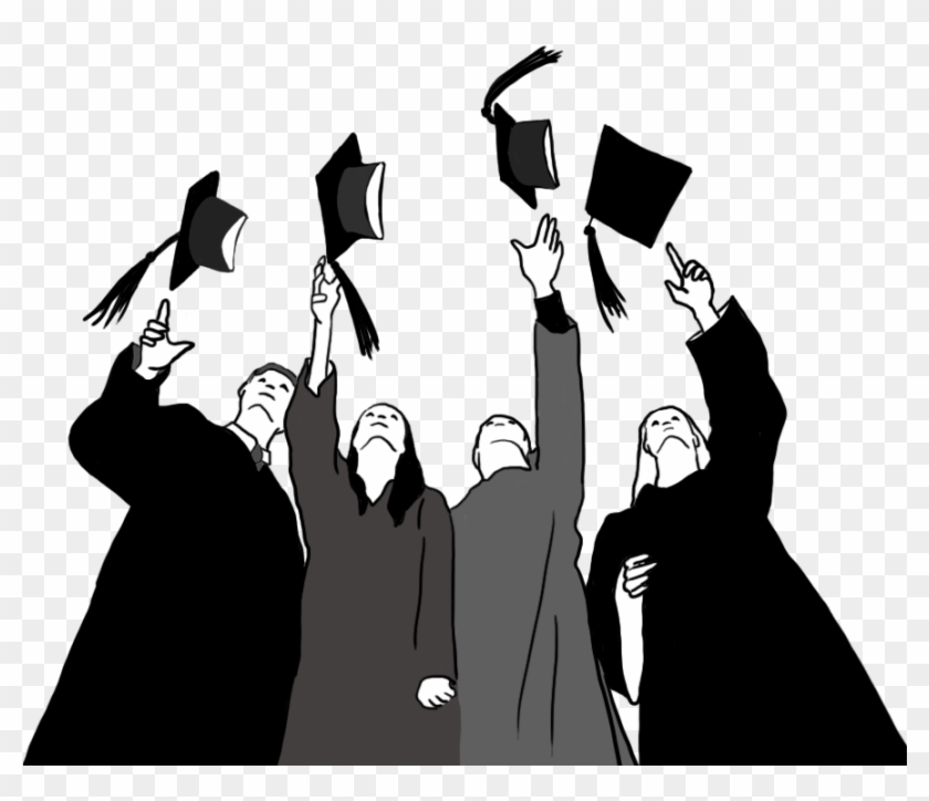 Graduation Clipart Black And White Graduation Free Transparent