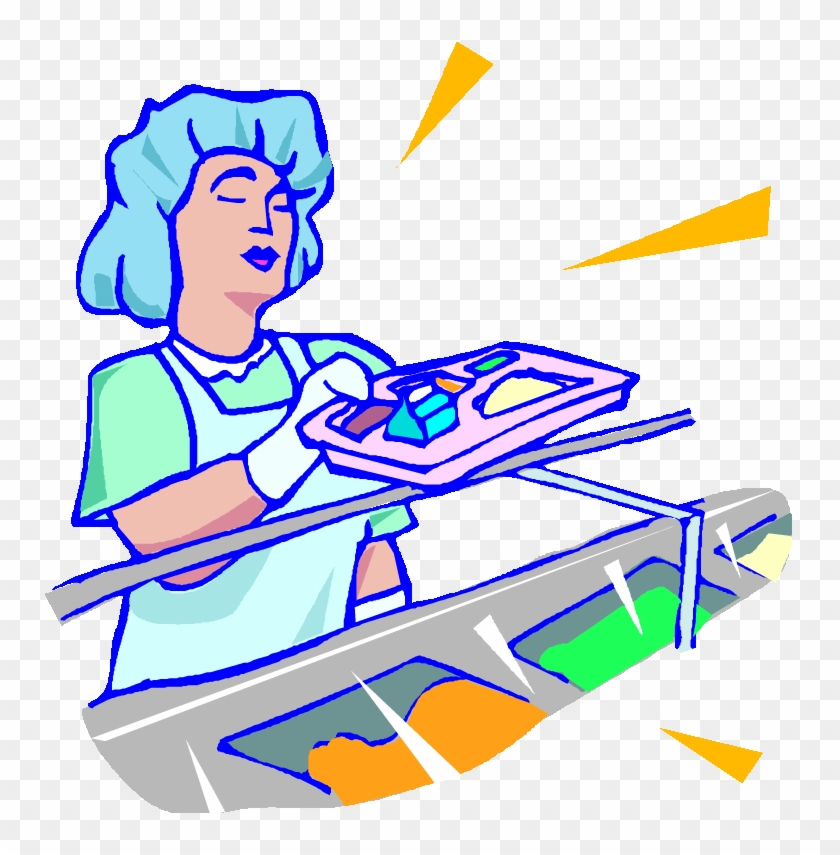 Clipart High School Cafeteria - Food Service Worker Clipart #1045608