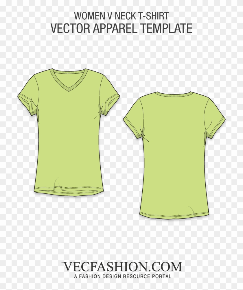 Basic V Neck T Shirt Template T Shirt Free Transparent Png