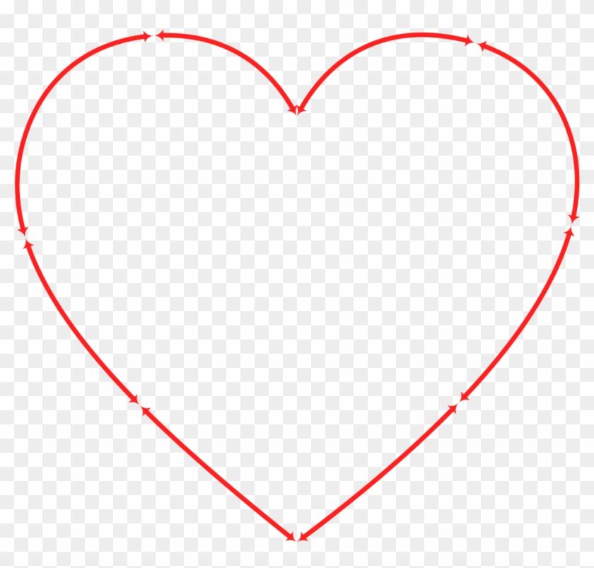 Free Heart And Arrow Clip Art - Big Heart With Arrow #1046696