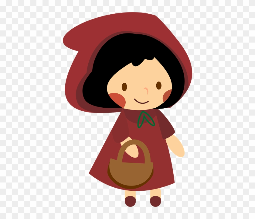 Draw Of Red Riding Hood - Visual Arts #1046697