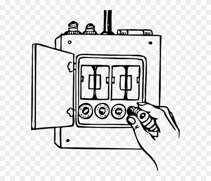 Panel House Home Box Diagram Outline Cartoon