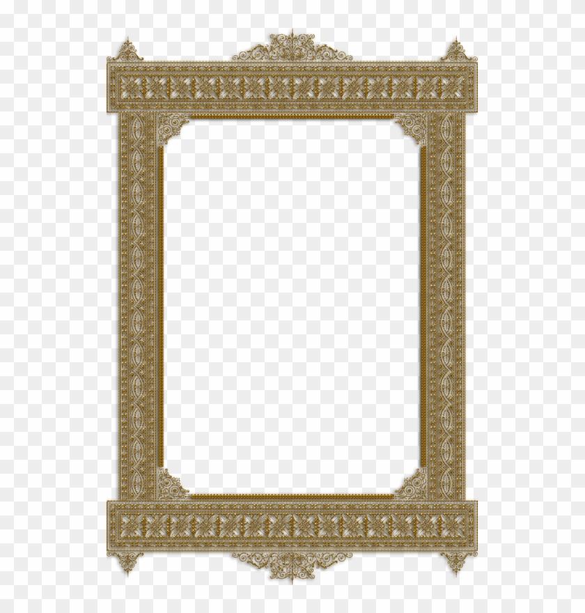 Frame Vintage Gold Ornate - Transparent Golden Frame Hd #1048262