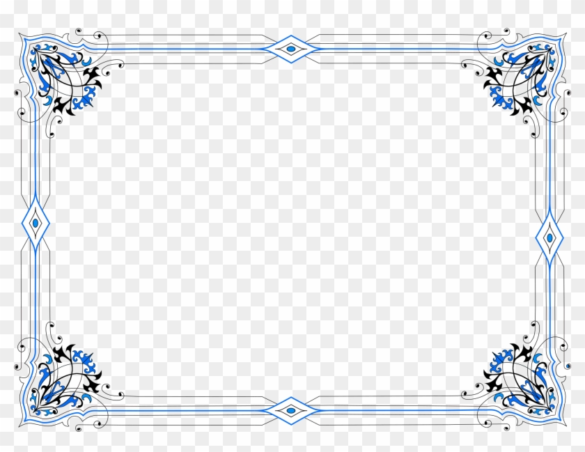 Fancy Blue Borders Wpawpartco