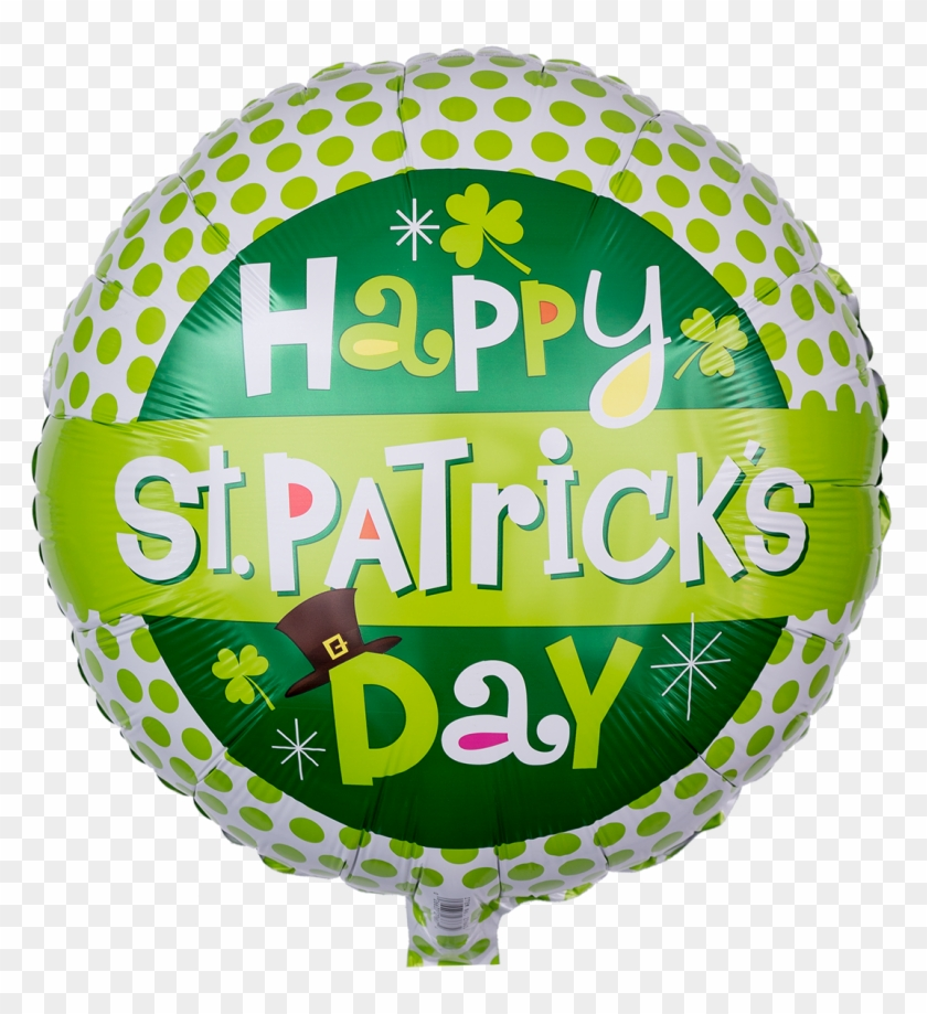 "Grün Gepunkteter Heliumballon ""happy St - Happy St Patricks Day 17 Mylar Balloon #1048328"