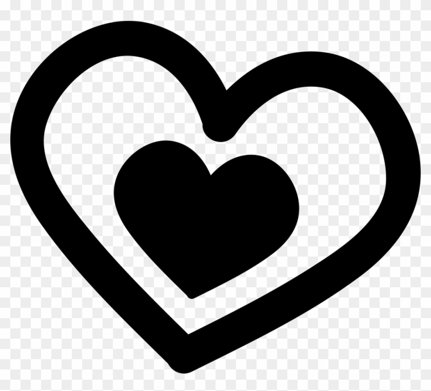 Png File Svg - Heart Hand Drawn Black And White Png #1048404