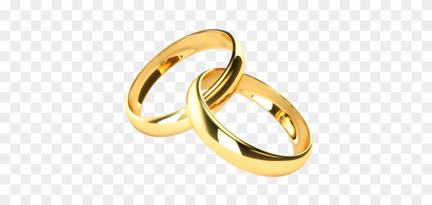 Free Clipart Wedding Rings - Wedding Ring Gold Png #1048554