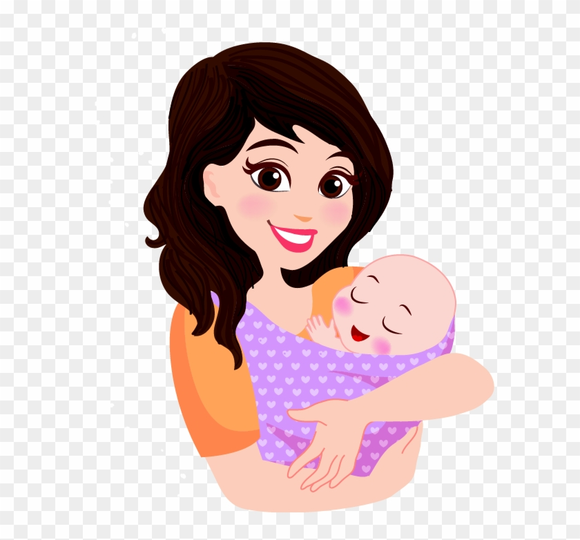 Mother Infant Cartoon Child - Mother With Baby Clipart ...