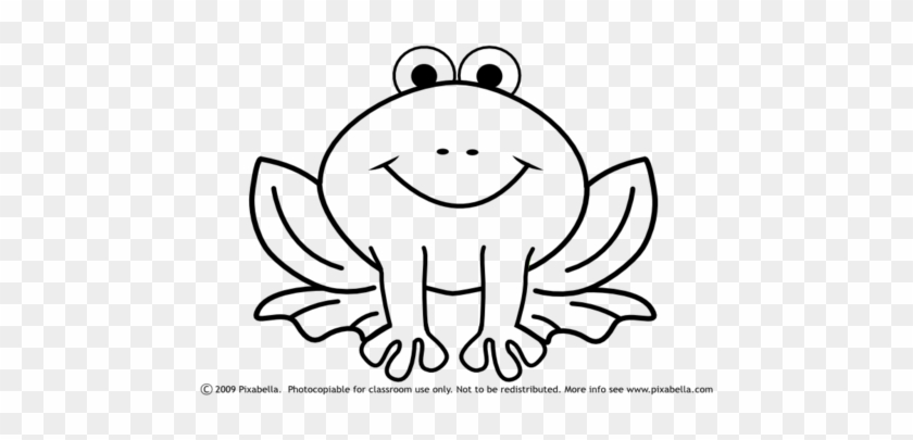 Cute Frog Coloring Pages Coloring Trend Medium Size Easy Frog