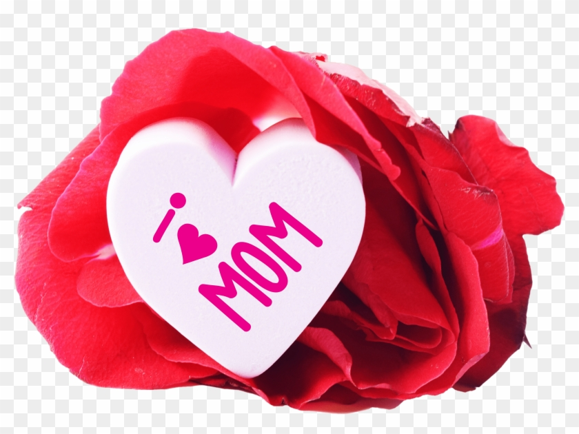 Free I Love Mom Heart And A Rose Png Image Good Morning For