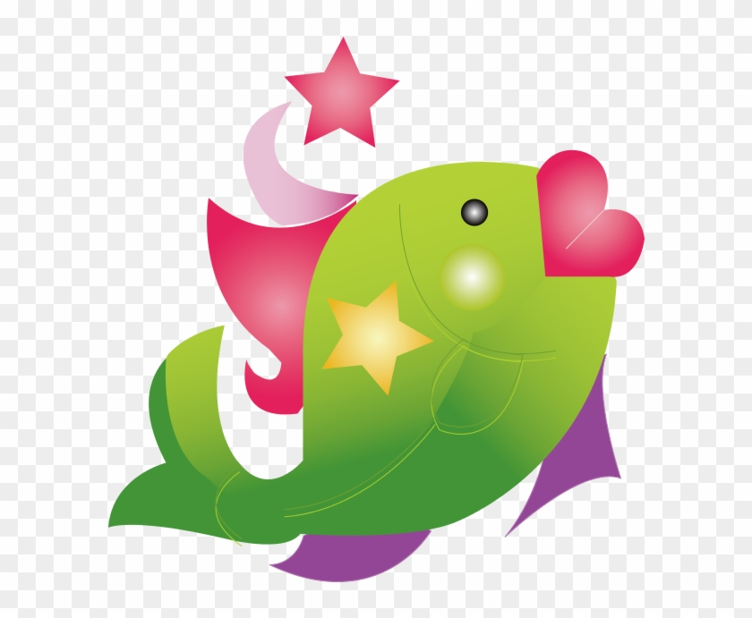 Image For Fish Cartoon Animal Clip Art - Tropical Fish Shower Curtain #1049317