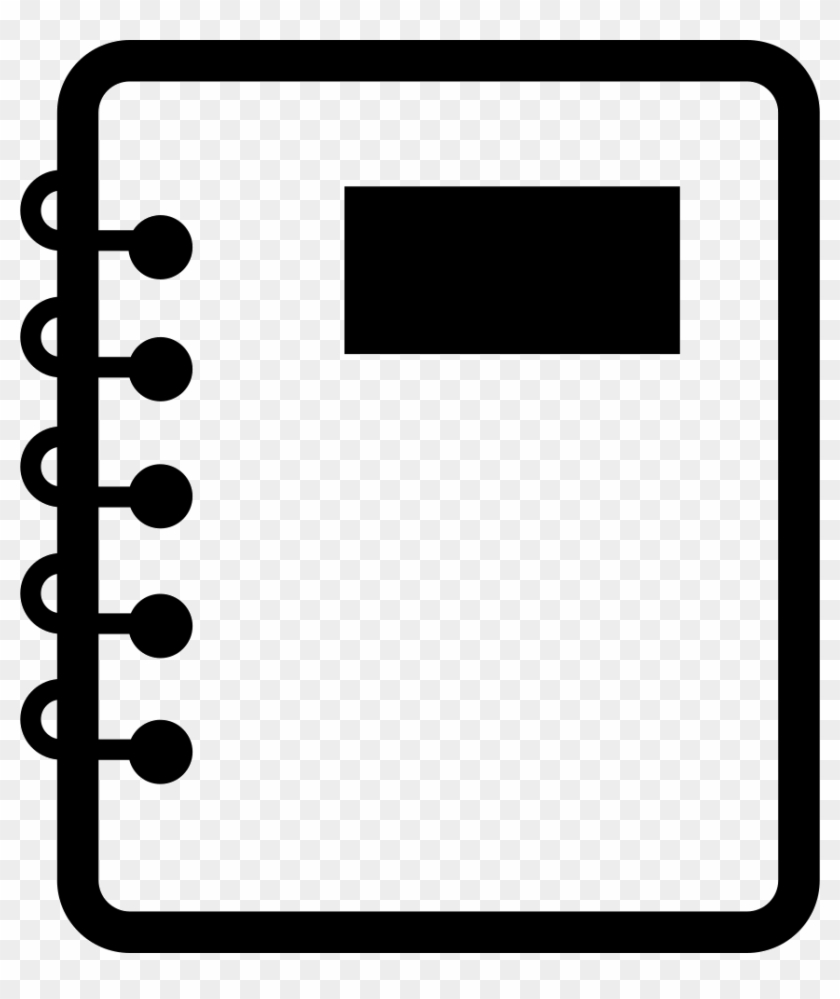 notebook of paper with spring comments - notebook svg - free