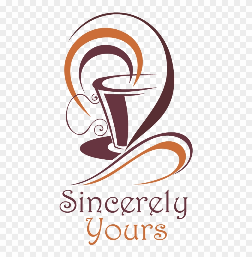 Bold Modern Cafe Logo Design For Sincerely Yours By - Coffee Cup Kitchen Sticker Wall Art, Black #1050209