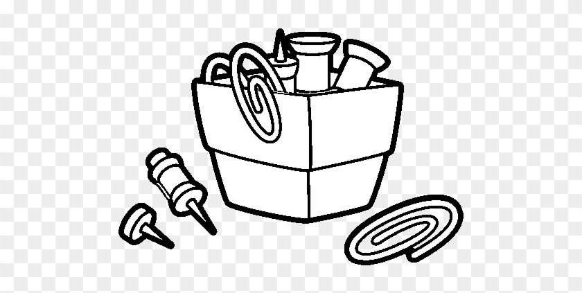 Paper Clip Holder Coloring Page - Coloring Pages Of Paper Clip #1050989