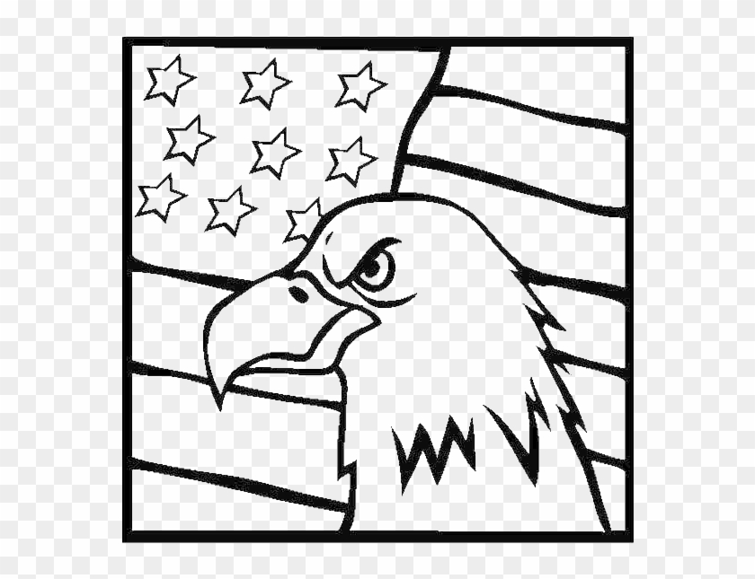 American Eagle And Us Flag Celebrating Veterans Day - Eagle And Flag ...