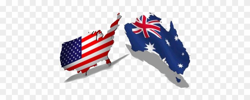 Australian And Us Flag Maps United States Vs Australia Free