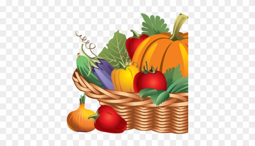 Basket Of Fruits And Vegetables Drawing #1051585
