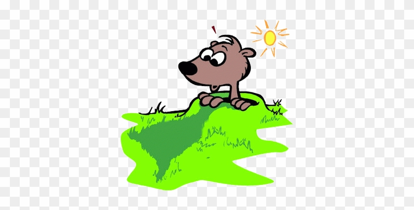 Amazing Groundhog Day Clip Art Ihypress Groundhog Day - Groundhog Seeing His Shadow #1051606