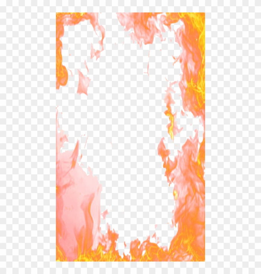 Flame Border Png Download - Fire Photo Frame Png #1051771