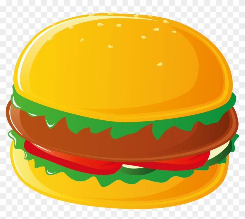 Hamburger Hot Dog Cheeseburger Pizza French Fries - Fast Food Vector Free #1051874