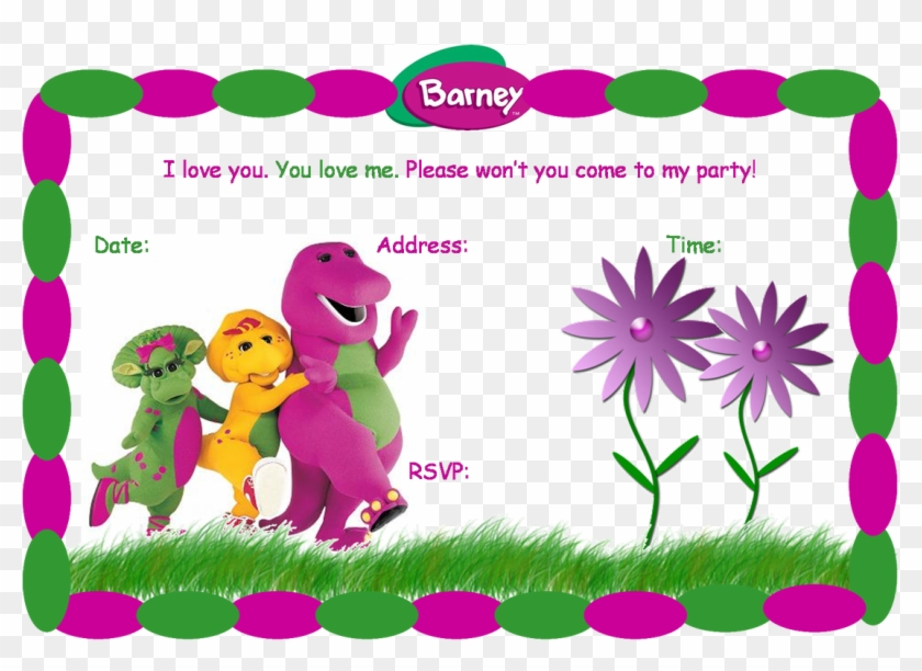 40th Birthday Ideas Barney Birthday Invitation Templates - Barney ...