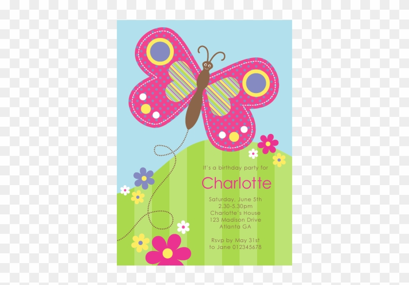 picture regarding Birthday Clipart Free Printable known as Totally free Printable Butterfly Invites - No cost Printable