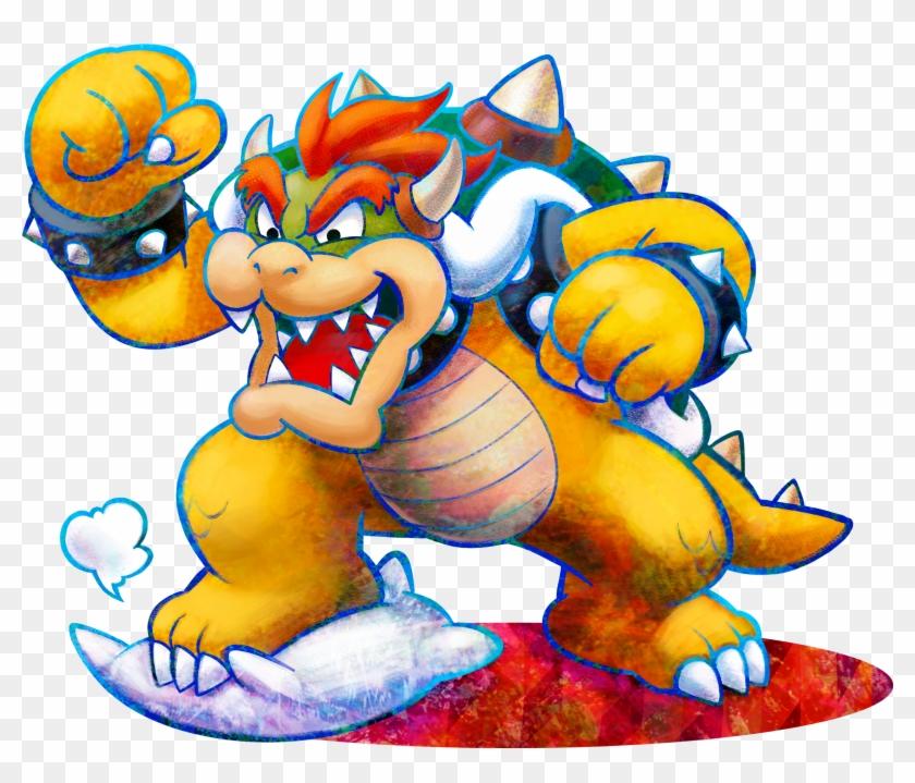 Bowser Mario And Luigi Dream Team Free Transparent Png Clipart