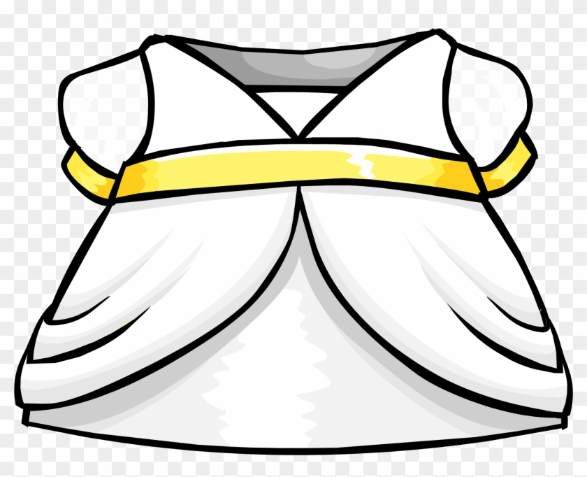 Snow Fairy Dress Clothing Icon Id 4123 2 - Club Penguin Wiki Dresses #1052384