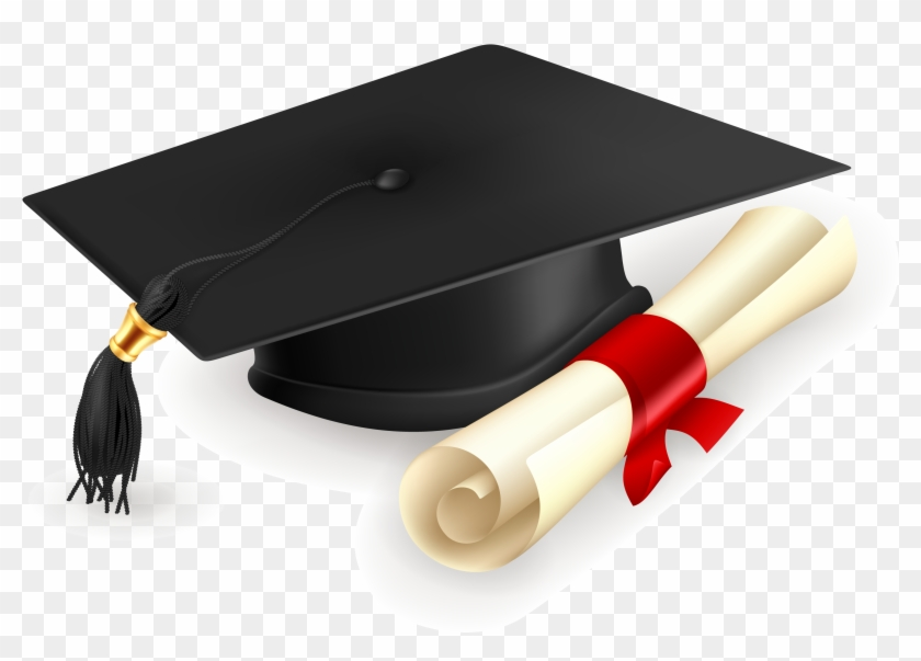 Graduation Cap And Gown Clipart - Encyclopedia Of Education [book ...