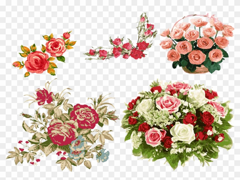 Beach Rose Flower Bouquet Drawing Beach Rose Flower Bouquet Drawing Free Transparent Png Clipart Images Download